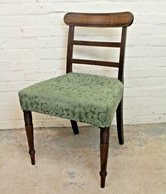 £19.99 • Buy Antique Victorian Mahogany Upholstered Country House Dining Chair (Can Deliver)