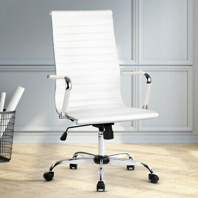 AU99.90 • Buy Artiss Gaming Office Chair PU Leather Executive Computer Chairs Work Seat White