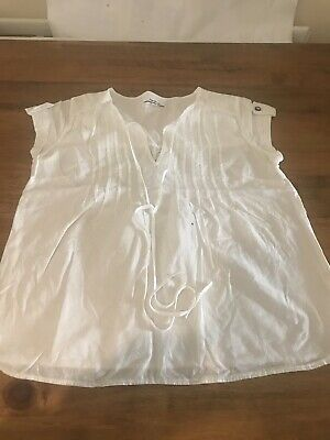 £8 • Buy Pepe Jeans White Cotton Blouse Top - Small