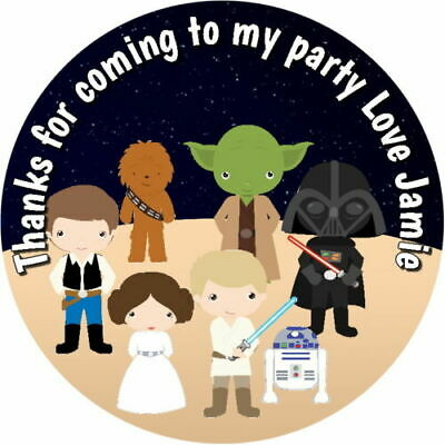 £2.40 • Buy Personalised Glosscute Star Wars  Birthday  Party Stickers Sweet Cone Labels