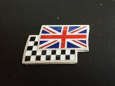 £2.85 • Buy Union Jack And Chequered Flag Car Badge MG ZR TF MGF ZS ZT ZTT