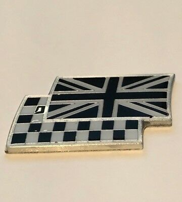 £2.75 • Buy Black And White Union Jack And Chequered Flag Car Badge MG ZR TF MGF ZS ZT ZTT