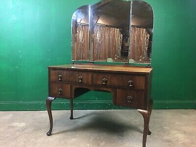 £55 • Buy Edwardian Triple Mirror Walnut Dressing Table. Courier Available.