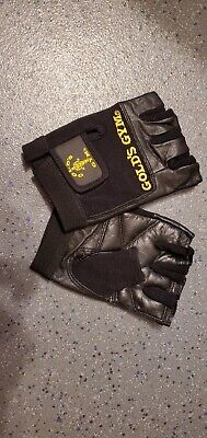 £5 • Buy Golds Gym Leather Weight Lifting Gloves Max Lift Body Building - Large