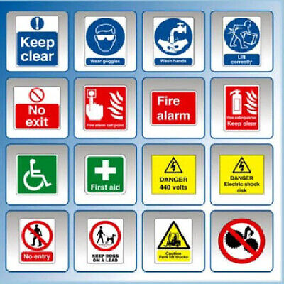 £4.99 • Buy Hi Resolution Health And Safety Hazard & Warning Signs  Posters Collection