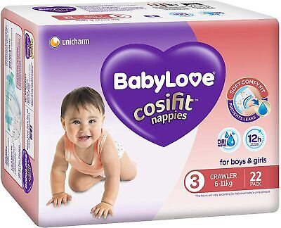 AU63.99 • Buy BabyLove Cosifit Nappies, Size 3 (6-11kg), (4 X 22 Pack) 88 Nappies