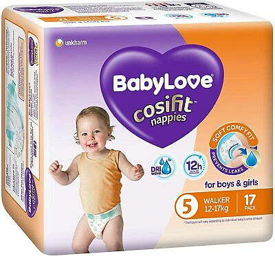 AU56.79 • Buy BabyLove Cosifit Nappies, Size 5 (12-17kg), 68 Nappies (4x 17 Pack)