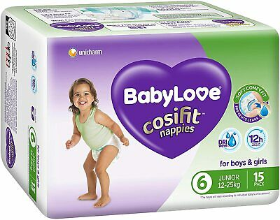 AU49.99 • Buy BabyLove Cosifit Nappies, Size 6 (15-25kg), 60 Nappies (4x 15 Pack)