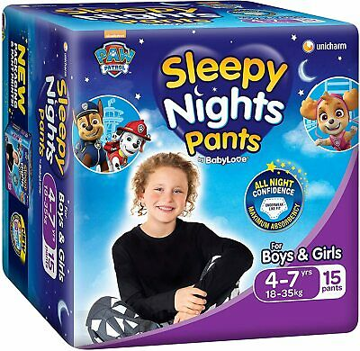 AU74.89 • Buy BabyLove SleepyNight Pants, Size 4-7yrs (18-35kg), (4x 15pack) 60 Nappies