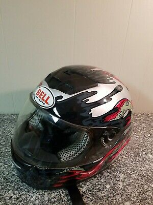 $80.99 • Buy Bell Leviatha Motorcycle Helmet Size Large Snell M2005 Approved Dot, Red Silver