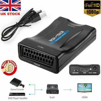 £6.89 • Buy SCART To HDMI Composite 1080P Video Scaler Converter Audio Adapter For DVD TV