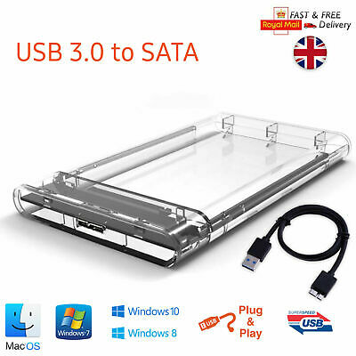 £6.49 • Buy USB 3.0 To SATA Hard Drive Enclosure Caddy External Case For 2.5  Inch HDD SSD
