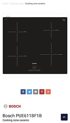 £250 • Buy Bosch Serie 4 PUE611BF1B Electric Induction Hob - Black
