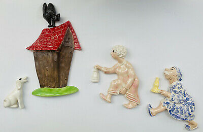 $ CDN97.10 • Buy Vintage Arnel Wall Hanging Race To The Outhouse 1960's Wall Plaques Set 5