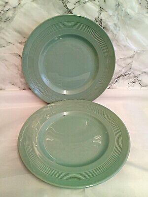 £6.95 • Buy Vintage Woods Ware Beryl 9  Small Dinner Plates In Green X2