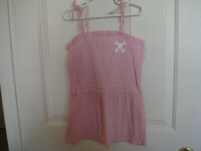 £4.25 • Buy Small Paul By Paul Frank Girls' Baby Doll Top Pink Sz. 6X