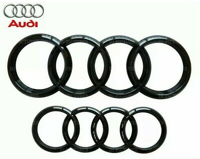 £14.99 • Buy Audi Gloss Black Front Rear Grille Bonnet Badge For A1 A3 A4 S3 RS 273mm 192mm