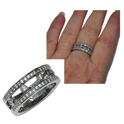 £29.60 • Buy Ti Sento Ring Sterling Silver 925 And Zirconium White T 54 Jewel