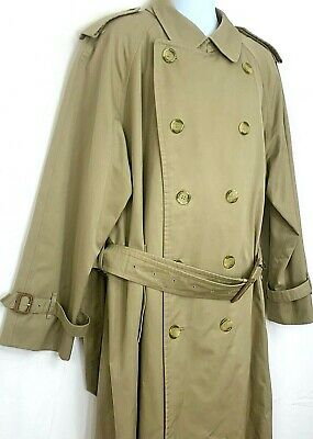 $325.66 • Buy Burberry Mens Raincoat Trench Coat Beige Double Breasted Belted Jacket Large