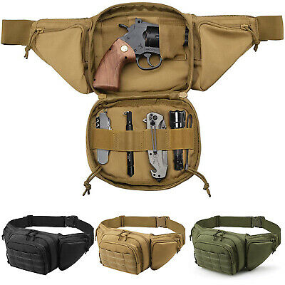 $20.99 • Buy Tactical Fanny Pack Waist Bag Concealed Gun Carry Pouch Military Pistol Holster