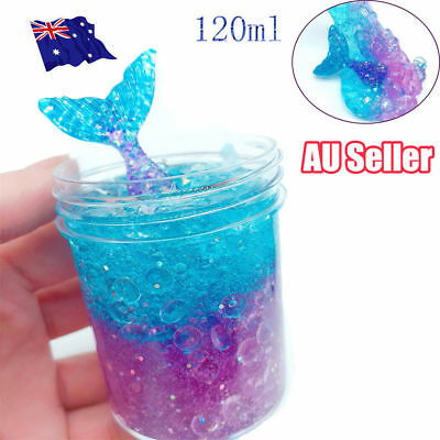 AU11.42 • Buy 120ML Multicolor Mermaid Crystal Slime Clay Squeeze Reduce Stress Child Toy AL