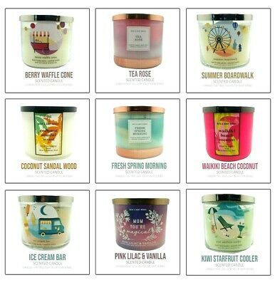 £24.99 • Buy NEW Bath & Body Works 3-Wick Scented Large Candle Summer/Spring Fragnance 2021