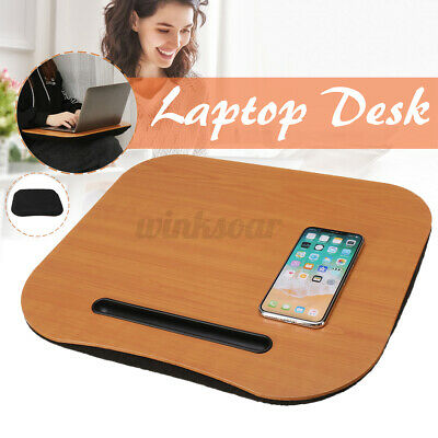 AU19.98 • Buy Portable Wood Laptop Stand Table Bed Sofa Computer Desk Study Tray Lap Holder