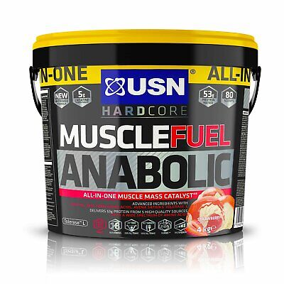 £48.34 • Buy USN Muscle Fuel Anabolic Strawberry Protein Shake 4KG All In One Muscle Gain