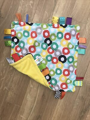 £13.99 • Buy Bright Starts Taggies Little Taggie Circles Comforter Blanket Blankie Soft Toy