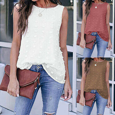 £8.31 • Buy Women Casual Vest T Shirt Ladies Summer Party Cami Camisole Blouse Tops Pullover