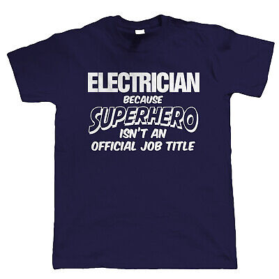 £11.98 • Buy Electrician Superhero, Mens Funny T-Shirt, Gift For Dad Him