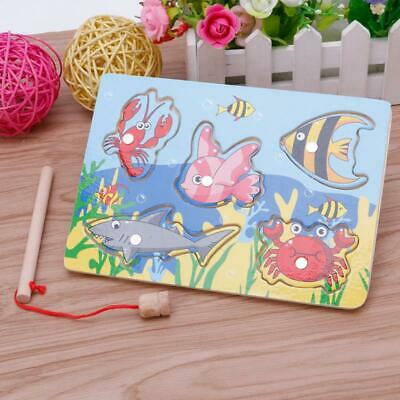 £3.70 • Buy Baby Wooden Magnetic Fishing Game Board 3D Jigsaw Puzzle Children Education