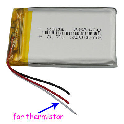 £7.90 • Buy  3.7V 2000 MAh Rechargeable Polymer Li Battery 853460 For GPS Camera Tablet PC