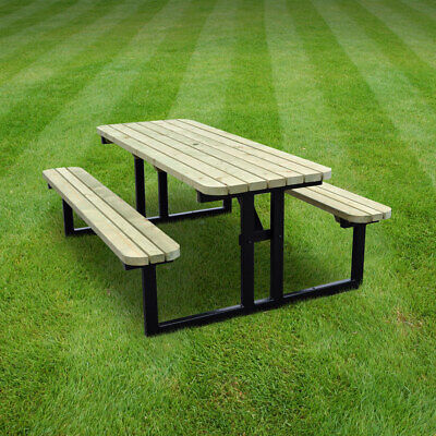 £474.99 • Buy Tinwell Rounded Steel Picnic Table / Bench - Heavy Duty - Pressure Treated