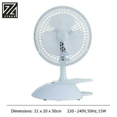 £12.95 • Buy 2 In 1 6  Inch Clip On Fan Portable Desk Table 2 Speed Office Home Cool Air