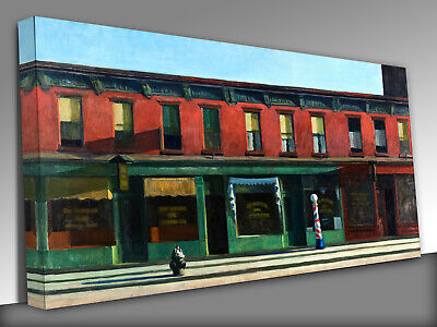 £29 • Buy Early Sunday Morning Edward Hopper Canvas Wall Art Picture Print
