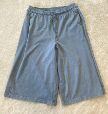 $ CDN85 • Buy Lululemon Inner Glow Culotte Washed Chambray Blue Size 12