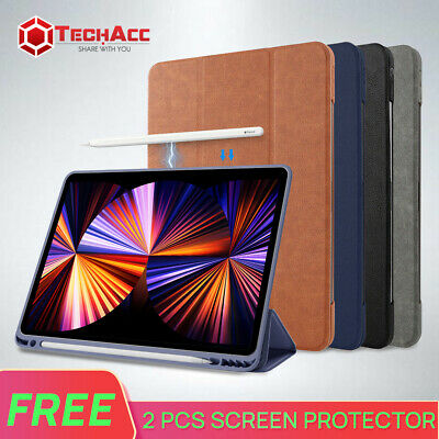 AU24.69 • Buy IPad Pro 2021 M1 12.9 11 2020 2018 Air 4 10.2 Leather Case Cover Pencil Charging