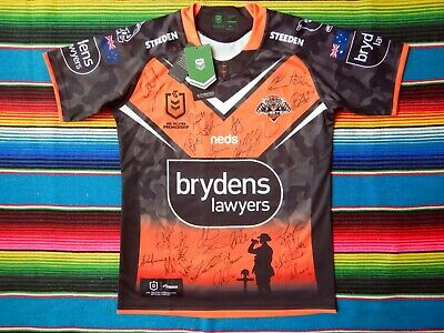 AU349.99 • Buy ✺Signed✺ 2021 WESTS TIGERS NRL Anzac Jersey PROOF COA 28 Autographs