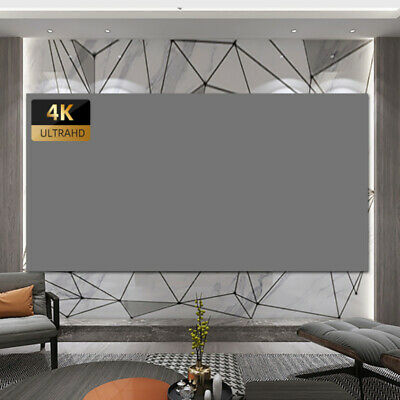 £8.59 • Buy Curtains 4K HD 60 -100  Projection Screen Anti-Light Projector Screen Material