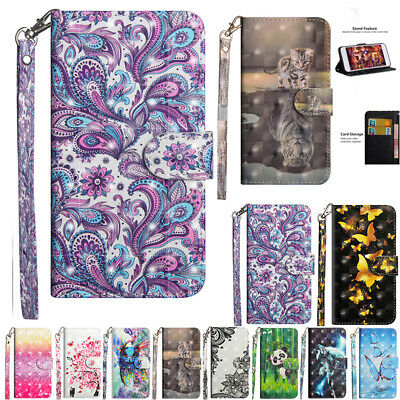 AU12.88 • Buy For OPPO A5 A9 2020 A52 A53S Patterned Magnetic Flip Leather Wallet Case Cover