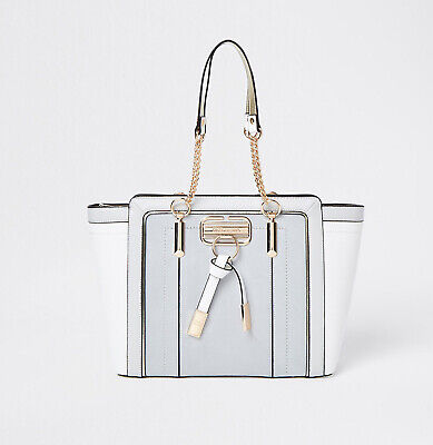 £40 • Buy Brand New River Island Grey Winged Tote Bag