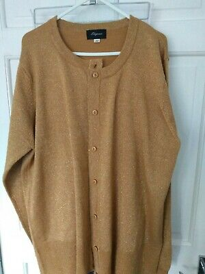 £11.99 • Buy Gorgeous Gold Lurex Cardigan. Size 20. New Without Tags