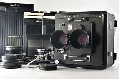 £601.72 • Buy 【EXC+5】WISTA 4x5 Large Format TLR WISTAR Lens Symmar S 150mm F5.6 Etc From Japan