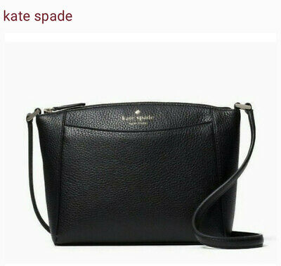 $ CDN108.09 • Buy KATE SPADE MONICA Pebbled Leather Crossbody Bag $279 Black With Gold Hardware