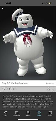 $569.99 • Buy Veve Stay Puft Marshmallow Man Ghostbusters NFT Uncommon FA#1574 SOLD OUT!!!