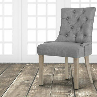 AU138.90 • Buy Artiss Dining Chairs French Provincial Chair Wooden Fabric Retro Kitchen Grey