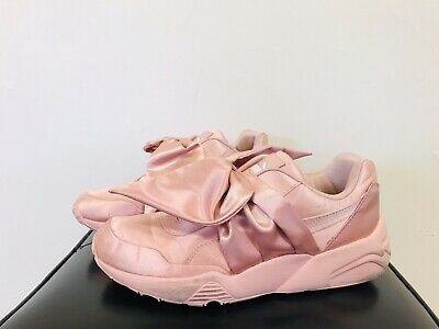 AU95 • Buy FENTY / PUMA Pink Bow Sneakers / Trainers Ladies Size 37.5 US 7 Good Pre-Loved