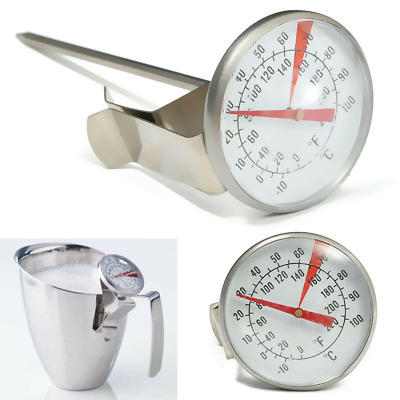 $7.85 • Buy Coffee Milk Frothing Candy Liqued Thermometer Stainless Steel Probe Jug Kitchen