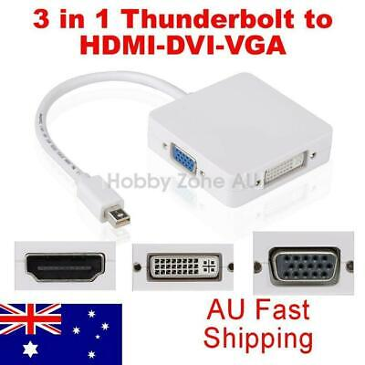 $10.95 • Buy 3in1 Mini Displayport To HDMI DVI VGA Adapter Cable For MacBook Pro Thunderbolt